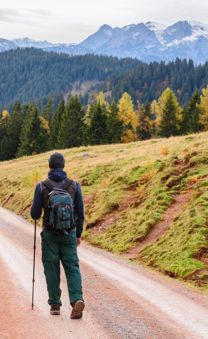 man-hiking-mount-rainer