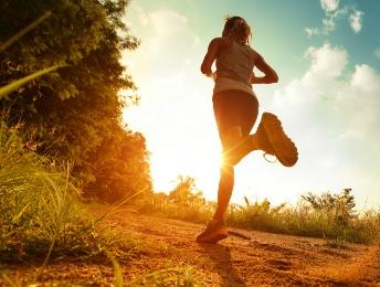 runner-sunset-in-forest